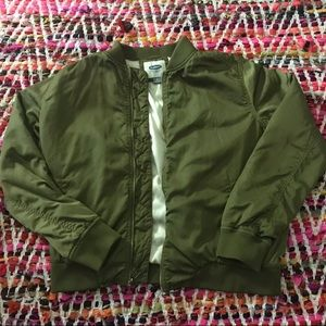 Old Navy Army Green Bomber Jacket
